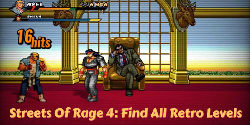 Find retro levels in Streets Of Rage 4
